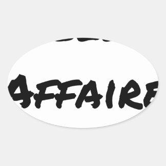 Good deal - Word games - François City Oval Sticker