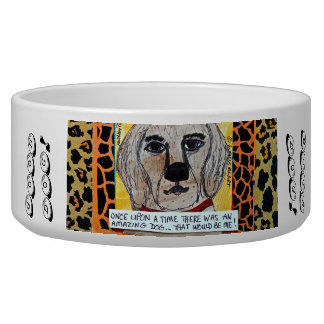 GOOD DOG BOWL- ONCE UPON THERE WAS AN AMAZING DOG DOG BOWL