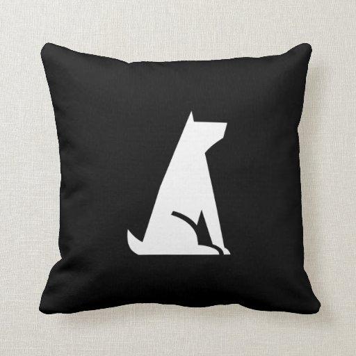 Good Dog Pictogram Throw Pillow