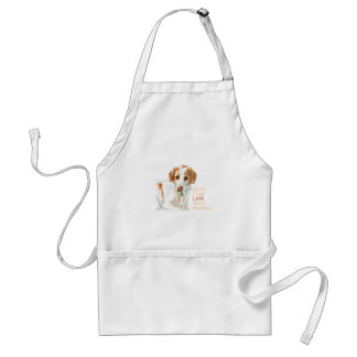 Good dogs love good humans watercolor standard apron
