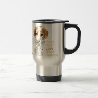 Good dogs love good humans watercolor travel mug