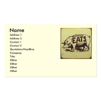 Good Eats Catering Pack Of Standard Business Cards