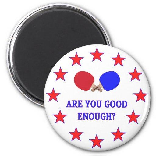 Good Enough Ping Pong Fridge Magnets