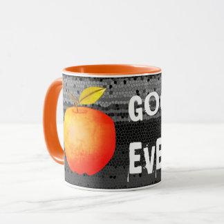 Good Evening Apple Fruit Orange Mosaic Black Cool Mug