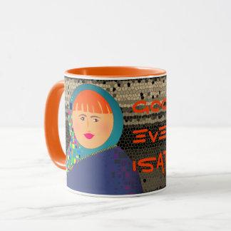 Good Evening Isabelle Orange Mosaic Rich Bold Mug