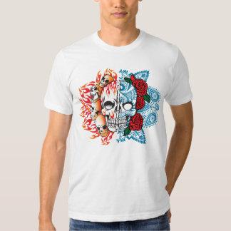 good/evil skull T-shirt