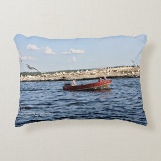 Good Fishing On Lake Vermilion horizontal throw Decorative Cushion