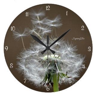"""good flight"" by mysteryella large clock"