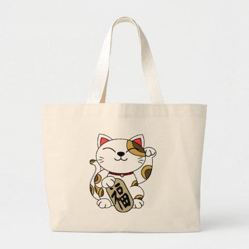 Good Fortune Cat Canvas Bag