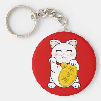 Good Fortune Cat - Maneki Neko Key Ring