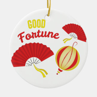 Good Fortune Ceramic Ornament