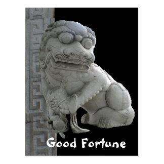 Good Fortune Foo Dog Postcard