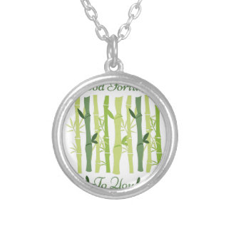 Good Fortune Silver Plated Necklace