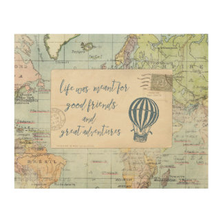 Good Friends and Great Adventures Quote Wood Wall Decor