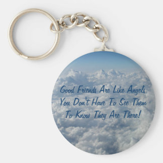 Good Friends Are Like Angels Key Ring