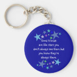 Good friends  are like stars Custom Quote Key Chains