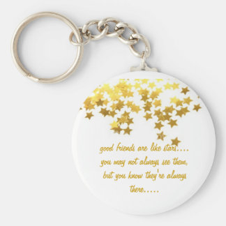 good friends are like stars keychain