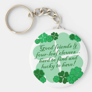 Good Friends Basic Round Button Key Ring