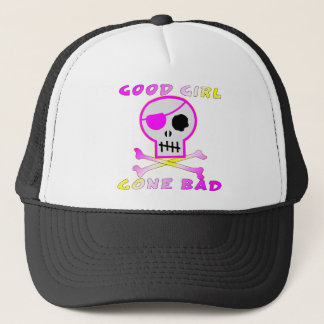 Good Girl Gone Bad Pirate Skull Trucker Hat
