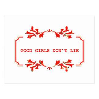 GOOD GIRLS DONT ROLLS network Postcard