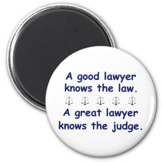 Good/Great Lawyer 6 Cm Round Magnet