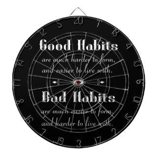 Good Habits Bad Habits Dartboard