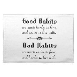 Good Habits Bad Habits Placemat