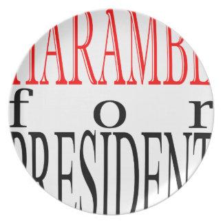 good harambe election president vote guardian gori dinner plates