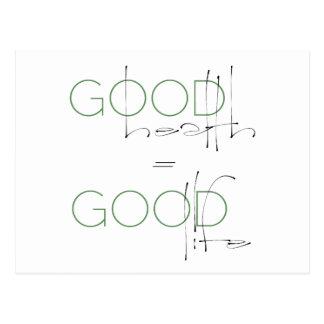 Good Health = Good Life, Lifestyle Postcard