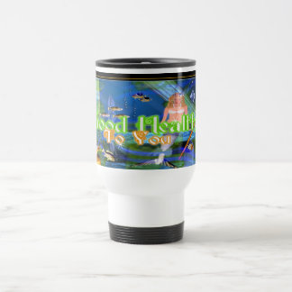 Good Health Wishes from fishes Travel Mug