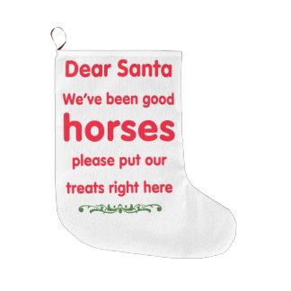 good horses large christmas stocking
