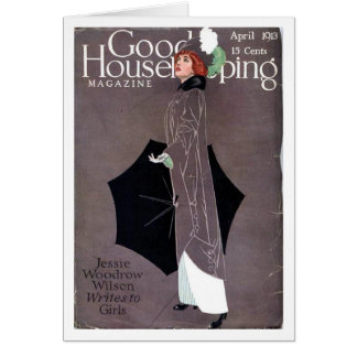 Good Housekeeping April 1913 Coles Phillips cover Card