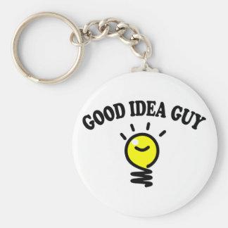 Good Idea Guy Basic Round Button Key Ring