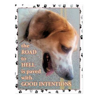 Good Intentions Dog Postcard