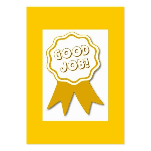 Good Job Award Card Business Card Template
