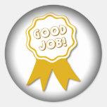 Good Job! Fade to Black Round Stickers