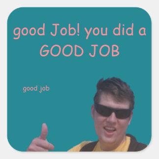 """good Job!"" Feedback Sticker"