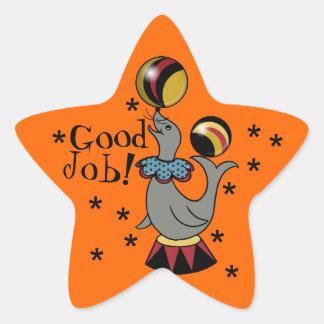 Good Job! Juggling Seal Orange Star Reward