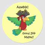 Good Job Matey!-Pirate Parrot Sticker