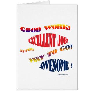 GOOD JOB NOTE CARD