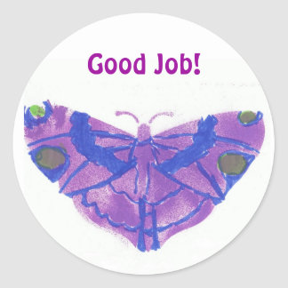 """Good Job"" stickers w/purple butterfly"