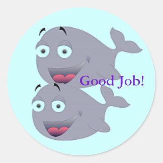 Good Job Whale Sticker