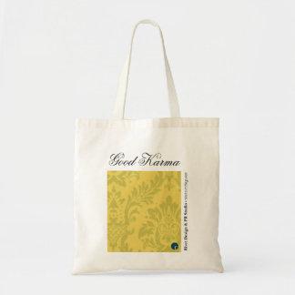 Good Karma Reusable Shopping Bag, Yellow Budget Tote Bag