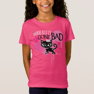 Good Kitty Gone Bad Cute Cat Tee by Cheeky Chats