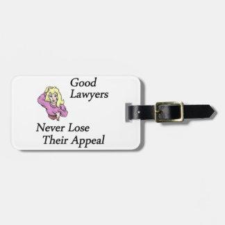 Good Lawyers Travel Bag Tags