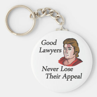 Good lawyers man basic round button key ring