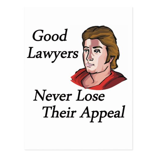 Good lawyers man post card