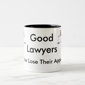 Good Lawyers Never Lose Their Appeal Two-Tone Coffee Mug