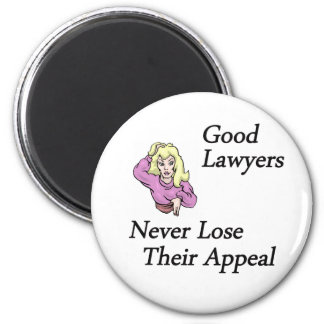 good lawyers woman 6 cm round magnet