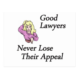 good lawyers woman post card